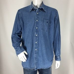 Ralph Lauren button down shirt heavy denim
